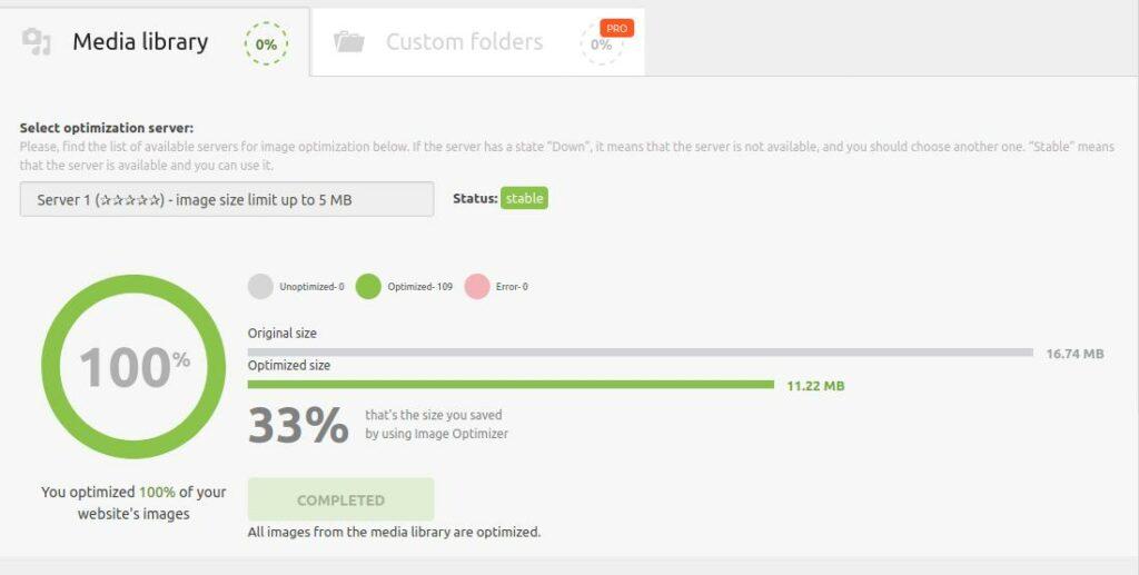 Zadbaj o kompresję i optymalizację zdjęć np. za pomocą Robin Image Optimizer