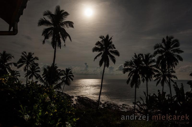 Widok na Ocean Indyjski przy pełni ksieżyca